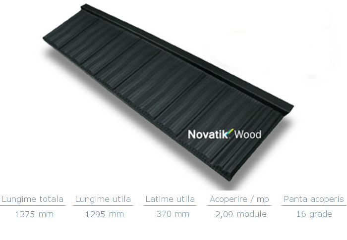 Tigl metalica Novatik Wood